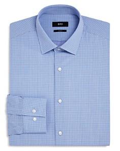 BOSS - Micro Check Dot Slim Fit Dress Shirt