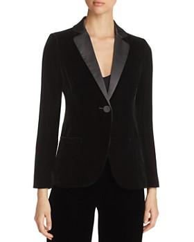 Emporio Armani - Contrast-Collar Velvet Blazer