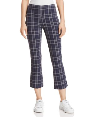 CAMPUS PLAID CROPPED FLARED PANTS
