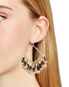 Kendra Scott - Raven Feathered Drop Earrings