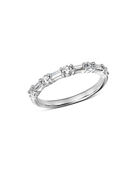 Bloomingdale's - Diamond Baguette & Round Band in 14K White Gold, 0.50 ct. t.w. - 100% Exclusive