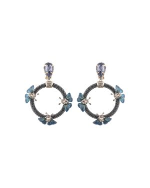 Alexis Bittar Floral Chain Loop Clip-On Drop Earrings