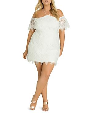 City Chic Plus Lace Devotion Dress