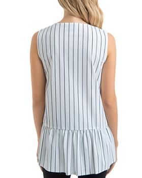 Lyssé - Sloane Striped Drawstring Ruffle-Hem Top