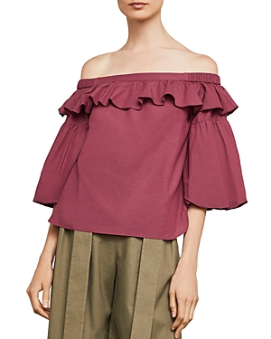 Bcbgmaxazria Off-the-Shoulder Shirred Top