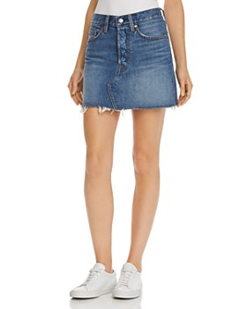 Levi's - Deconstructed Denim Mini Skirt in Middle Man