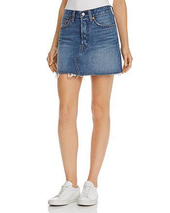 Levi's - Deconstructed Denim Mini Skirt in Middle Man