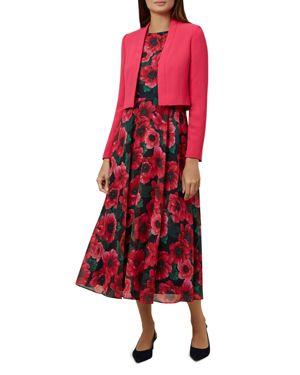 Evadine Cropped Jacket in Raspberry Pink