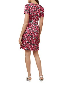HOBBS LONDON - Livia Ladder-Inset Floral Print Dress