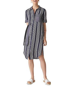 Whistles Multi-Stripe Shirt Dress