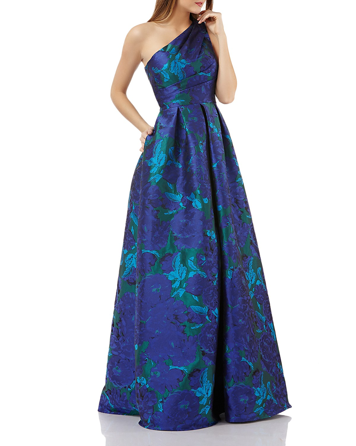 Carmen Marc Valvo One-Shoulder Ball Gown | Bloomingdale\'s