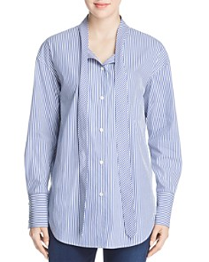 Theory - Weekender Tie-Neck Shirt
