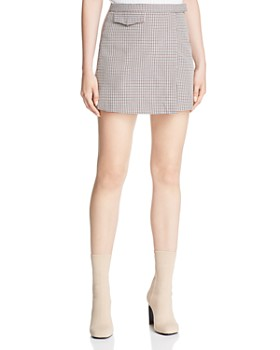 Theory - Plaid Mini Skirt