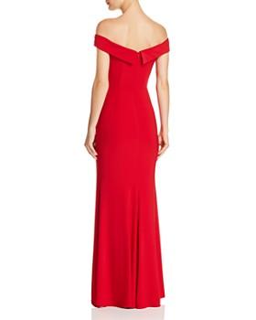 AQUA - Off-the-Shoulder V-Neck Gown - 100% Exclusive