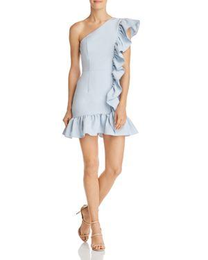 JARLO Xanadu One-Shoulder Dress in Blue
