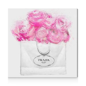 Oliver Gal Shopping for Peonies Canvas Art, 12 x 12
