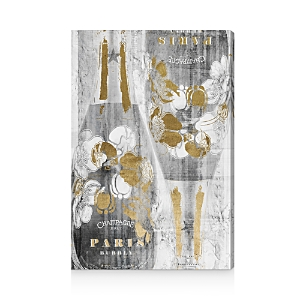 Oliver Gal Gold and Light Bubbly Wall Art, 24 x 36