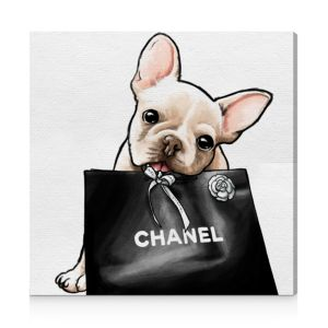 Oliver Gal Frenchie Glam Canvas Art, 20 x 20