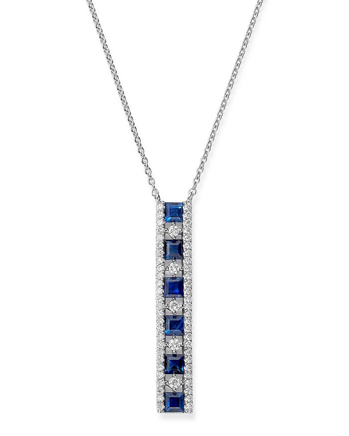 e021f5c11464 Bloomingdale S Blue Shire Diamond Bar Pendant Necklace In 14k. 14k White  Gold ...