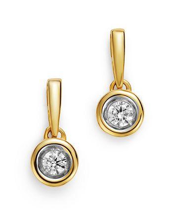 Bloomingdale's - Diamond Bezel Set Drop Earrings in 14K Yellow Gold, 0.20 ct. t.w. - 100% Exclusive