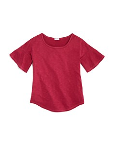 Splendid - Girls' Flounce-Sleeve Top - Big Kid