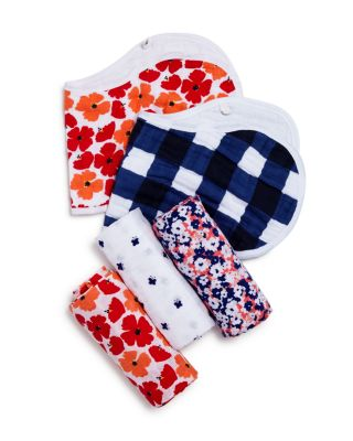 White Label Infant Girls' Flora Burpy Bibs, 2 Pack