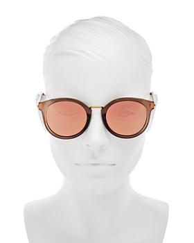Le Specs - Women's Last Dance Mirrored Round Sunglasses, 51mm