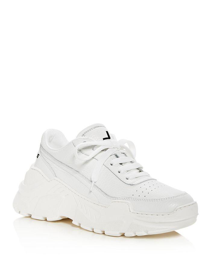 Joshua Sanders - Women's Zenith Leather Lace Up Platform Sneakers