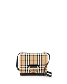 Burberry - Small Vintage Check & Leather D-Ring Bag