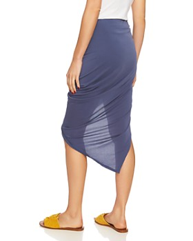 1.STATE - Ruched Asymmetric Skirt