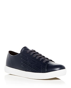 Armani Men's Leather Lace Up Sneakers