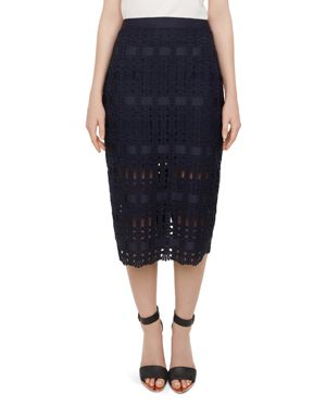 AAVA LACE PENCIL SKIRT