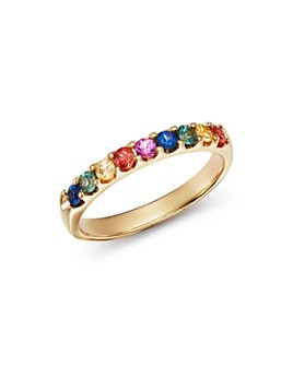 Bloomingdale's - Multicolored Sapphire Ring in 14K Yellow Gold - 100% Exclusive
