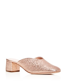 Loeffler Randall - Women's Lulu Leather Block Heel Mules