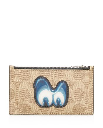 COACH - 1941 x Disney Signature Print Zip Card Case