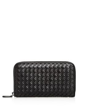 Bottega Veneta - Woven Leather Zip Wallet