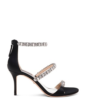 Badgley Mischka - Women's Yasmine Embellished Satin Sandals