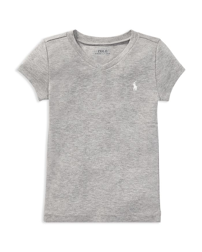 Ralph Lauren - Girls' V-Neck Tee - Little Kid