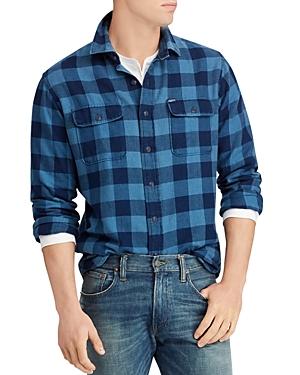 Polo Ralph Lauren Polo Indigo Plaid Flannel Classic Fit Workshirt