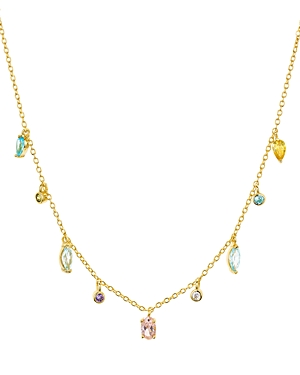 Argento Vivo Watermelon Rainbow Drops Necklace, 15