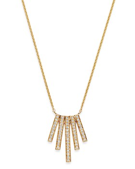 Moon & Meadow - Diamond Five Bar Necklace in 14K Yellow Gold, 0.18 ct. t.w. - 100% Exclusive