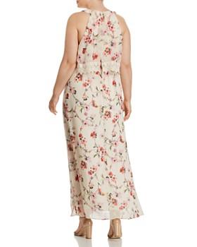 Adrianna Papell Plus - Bonita Oasis Floral Overlay Maxi Dress