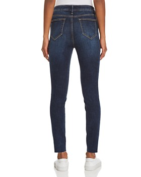 AQUA - Button Fly Skinny Jeans in Dark Wash - 100% Exclusive