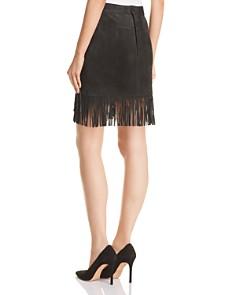 FRAME - Fringed Suede Skirt
