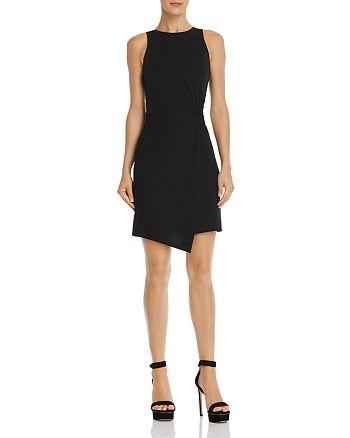 AQUA - Twist-Front Body-Con Dress - 100% Exclusive