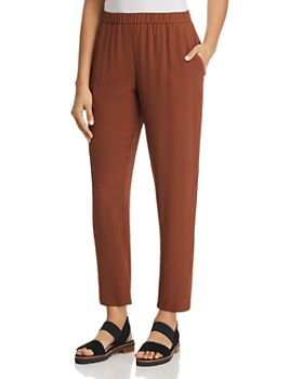 Eileen Fisher - Slouchy Silk Ankle Pants