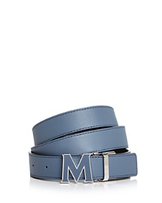 MCM Enamel Logo Buckle Leather Belt - Bloomingdale's_0