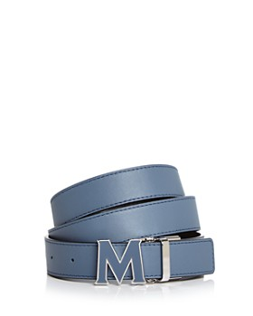 MCM - Enamel Logo Buckle Leather Belt