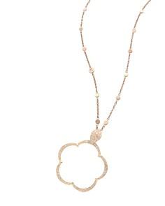 "Pasquale Bruni 18K Rose Gold Bon Ton Ton Joli Diamond & Champagne Diamond Floral Pendant Necklace, 19.75"" - Bloomingdale's_0"