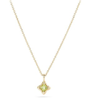 David Yurman - Cable Collectibles Kids Quad Charm Necklace with Peridot in 18K Gold